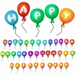 Vector balloons alphabet ABC isolated - Stock Vector