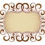 Grunge vintage floral banner frame pattern — Stock Vector #9228442