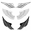 Royalty-Free Stock Vektorgrafik: Set of wings isolated on white
