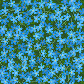 Forget me not seamless flowers background — Stock Vector