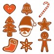 Gingerbread Cookies - Stock Vector