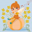 Pumpkin Fairy — Stock Vector
