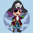 Pirate Boy Costume — Stock Vector