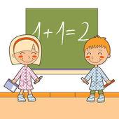 School Math Class — Stock Vector