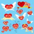 Happy Heart Collection — Stock Vector