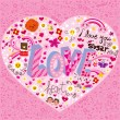 Royalty-Free Stock Imagen vectorial: Love Heart Doodle