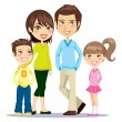 Happy Smiling Family — Stock Vector