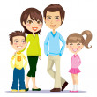 Happy Smiling Family — Stock Vector #8919957