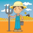 Young Farmer Boy — Stock Vector #8979864