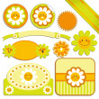 Daisy Sticker Labels — Stock Vector