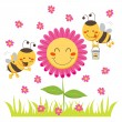 Happy Honey Bee — Stock Vector #9067401