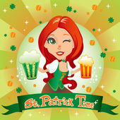 Saint Patrick Time — Stockvector