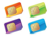Color SIM Cards. — Stock Vector