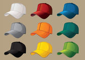 Baseball caps. — Vettoriale Stock