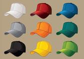 Gorras de béisbol — Vector de stock