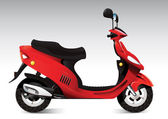 Cool red scooter — Stock Vector