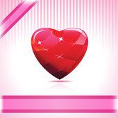 Shiny Ruby Heart — Stock Vector