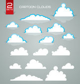Cartoon clouds — Stock Vector