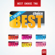 Best Choice Tags. — Stock Vector