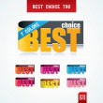 Best Choice Tags. — Stock Vector