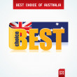 Best Choice of Australia — Stock Vector