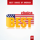 Best Choice of America — Stock Vector