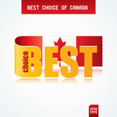 Best Choice of Canada — Stock Vector