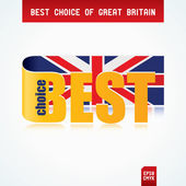 Best Choice of Great Britain — Stock Vector