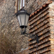 Decorative lamp on a wall of an old building in Gdansk, Poland — Stock Photo