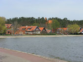 Lithuania. View of the resort settlement Nida — Stock Photo