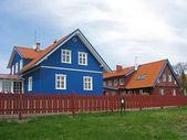 Nida, Lithuania. Cottages on the Kurshsky spit — Stock Photo