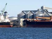 Almacenamiento de lituania de cargas en el puerto de klaipeda — Foto de Stock