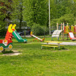 Playground in the spring - Stock Photo