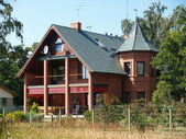 Cottage on the Kurshsky plait, Russia — Stock Photo