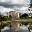 Kaliningrad, Russia   Elite habitation on the Top lake — Stock Photo