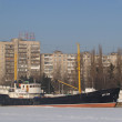 Kaliningrad Average fishing trawler СРТ-129 at mooring of museum of World ocean — Foto Stock #9387409