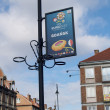 European championship advertizing on football EURO-2012 in Gdansk, Poland - Stock Photo