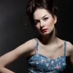 Fashion portrait of sensual woman — Stock Photo #9938496