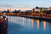 Moscow river at night — Stock Photo