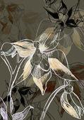 Fondo grunge con una flor con espacio para el texto o la imagen — Foto de Stock