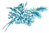 филиал стилизованные нежный цветок — Стоковое фото