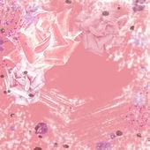 Ročník elegantní srdce rám s krajkou a pearl — Stock fotografie