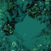 Yeşil ve siyah grungy çiçek duvar kağıdı — Stok fotoğraf