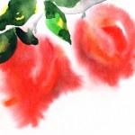 Art floral vintage colorful background — Stock Photo #9421133