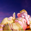 Stock Photo: Ganeshstatue in twilight tilted