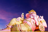 Ganesha statue in twilight tilted — Stock Photo