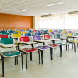 Empty room with many armchairs top tilted — Stock Photo #8520606