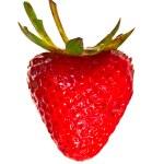 fraise en forme de coeur rouge isolé — Photo #8549702