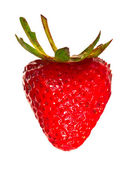 Red heart shaped strawberry isolated — Stock Photo