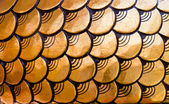 Golden dragon scales pattern — Stock Photo